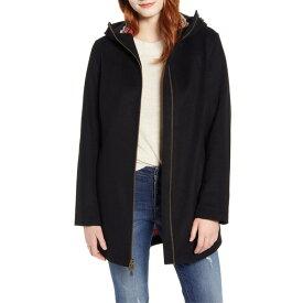 ペンドルトン レディース コート アウター Pendleton Finlay Waterproof Hooded Wool Blend Coat Black