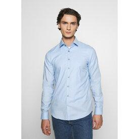 カルバン クライン テイラード メンズ シャツ トップス DOBBY EASY CARE SLIM - Formal shirt - blue vuxb0160