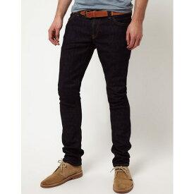 ヌーディージーンズ メンズ デニムパンツ ボトムス Nudie Long John Skinny Jeans Blue