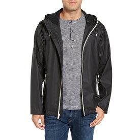 コールハーン メンズ ジャケット&ブルゾン アウター Rubberized Hooded Jacket BLACK