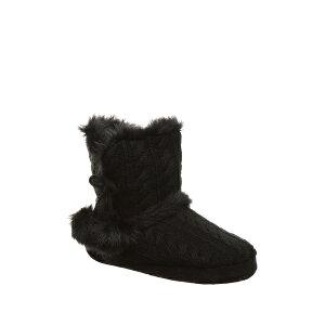 ベアパウ レディース サンダル シューズ Kinsley Pompom Faux Fur Bootie BLACK II