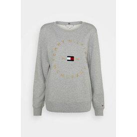 トミー ヒルフィガー レディース パーカー・スウェットシャツ アウター REGULAR CIRCLE - Sweatshirt - light grey heather vyjk0245