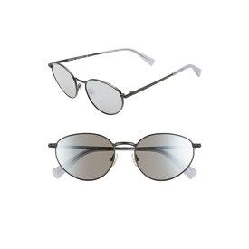 レベッカミンコフ レディース サングラス&アイウェア アクセサリー Rebecca Minkoff Stevie1 54mm Oval Sunglasses Matte Black