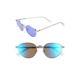 レベッカミンコフ レディース サングラス&アイウェア アクセサリー Rebecca Minkoff Stevie1 54mm Oval Sunglasses Dark Ruthenium