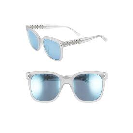 レベッカミンコフ レディース サングラス&アイウェア アクセサリー Rebecca Minkoff Cyndi 54mm Studded Sunglasses Matte Grey