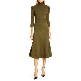 マイケル コース レディース ワンピース トップス Michael Kors Collection Puff Sleeve Cashmere Sweater Dress Spruce