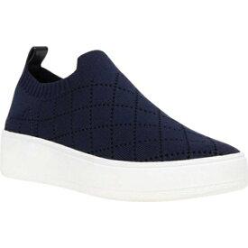 スティーブ マデン レディース スニーカー シューズ Bequilt Flatform Sneaker (Women's) Navy Quilted Knit