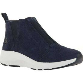 オーティービーティー レディース スニーカー シューズ Bethel High Top Sneaker (Women's) Dark Navy Leather