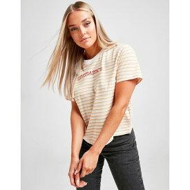 リーバイス レディース Tシャツ トップス Levis Varsity Stripe T-Shirt white