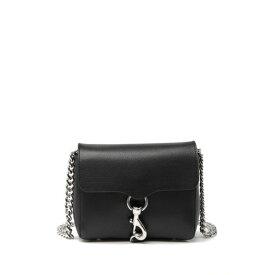 レベッカミンコフ レディース ショルダーバッグ バッグ Stella Mini Leather Crossbody Bag BLACK