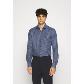 カルバン クライン テイラード メンズ シャツ トップス SMALL CHECK EASY CARE SLIM - Formal shirt - blue wkvy0186