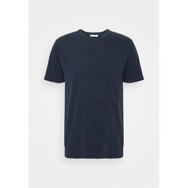 ボリオリ メンズ Tシャツ トップス Basic T-shirt - dark blue wnft0265