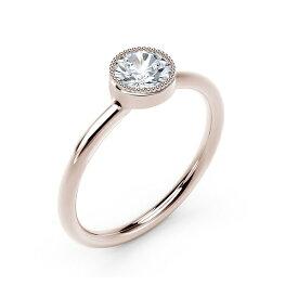 フォーエバーマーク レディース リング アクセサリー Tribute Collection Diamond (1/3 ct. t.w.) Ring with Mill-Grain in 18k Yellow, White and Rose Gold Rose Gold