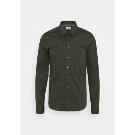カルバン クライン テイラード メンズ シャツ トップス LOGO STRETCH EXTRA SLIM - Formal shirt - green