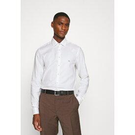 カルバン クライン テイラード メンズ シャツ トップス CONTRAST PRINT SLIM SHIRT - Formal shirt - white wpac013c