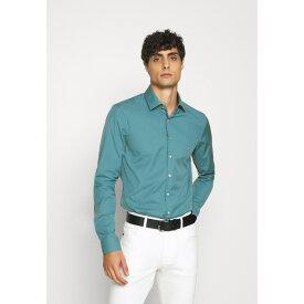 カルバン クライン テイラード メンズ シャツ トップス CONTRAST FLOWER PRINT SLIM - Formal shirt - blue wpac0142
