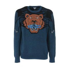 ケンゾー メンズ ニット&セーター アウター Intarsia Tiger Logo Sweater Ottanio