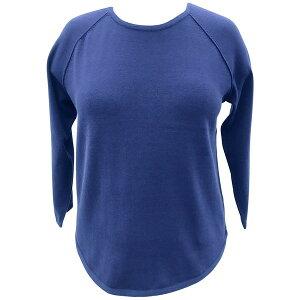 ケレンスコット レディース ニット&セーター アウター Plus Size Cotton Curved-Hem Top, Heather Indigo