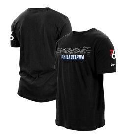 ニューエラ メンズ Tシャツ トップス Philadelphia 76ers New Era 2020/21 City Edition TShirt Black