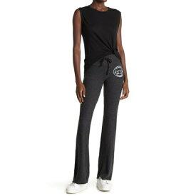 ワイルドフォックス レディース カジュアルパンツ ボトムス Logo Heathered Brushed Knit Sweatpants CLEAN BLACK