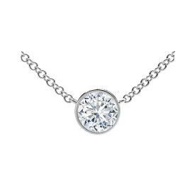 フォーエバーマーク レディース ネックレス・チョーカー・ペンダントトップ アクセサリー Tribute Collection Diamond (1/3 ct. t.w.) Necklace with Mill-Grain in 18k Yellow, White and Rose Gold White Gold