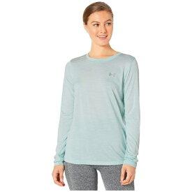アンダーアーマー レディース シャツ トップス UA Tech Twist Crew Long Sleeve Shirt Atlas Green/Metallic Silver