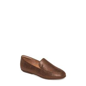 フィットフロップ レディース スリッポン・ローファー シューズ Lena Loafer Chocolate Brown Faux Leather