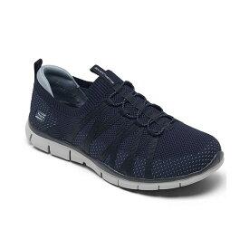 スケッチャーズ レディース スニーカー シューズ Women's Gratis - Chic Newness Wide Width Walking Sneakers from Finish Line Navy