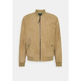 ラルフローレン メンズ ジャケット&ブルゾン アウター TISSUE GUNNERS - Leather jacket - desert khaki xngb0192