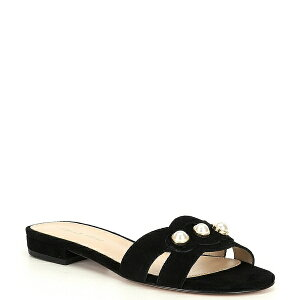 ペレモーダ レディース サンダル シューズ Barton Suede Pearl Ornament Detail Dress Sandals Black