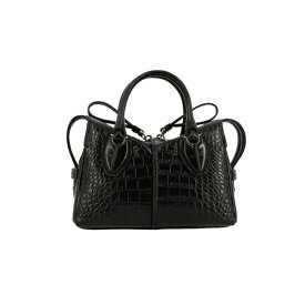 トッズ レディース トートバッグ バッグ Tod's Mini Bag Tod's D Mini Bag In Croc Print Leather With Shoulder Strap black