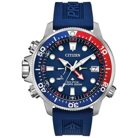 シチズン レディース 腕時計 アクセサリー Eco-Drive Men's Promaster Aqualand Blue Silicone Strap Watch 46mm Blue
