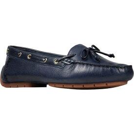 クラークス レディース スニーカー シューズ Women's Clarks C Mocc Boat Shoe Navy Full Grain Leather