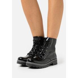 リーカー レディース ブーツ&レインブーツ シューズ Lace-up ankle boots - black xvqf0071