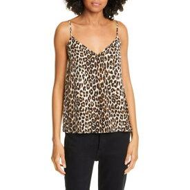 エキプモン レディース カットソー トップス Layla Leopard Print Silk Camisole Natural