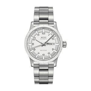 ミド メンズ ブレスレット・バングル・アンクレット アクセサリー Men's Multifort Bracelet Watch, 38mm Metallic