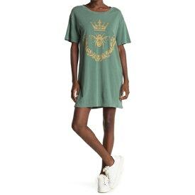 ワイルドフォックス レディース ワンピース トップス Dynasty T-Shirt Dress PIGMENT CADET