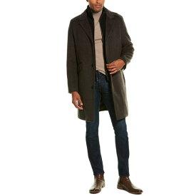 コールハーン メンズ ジャケット&ブルゾン アウター Cole Haan Long Classic Wool-Blend Topper -