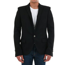 バルマン メンズ ジャケット&ブルゾン アウター Balmain Black Wool Blazer Black