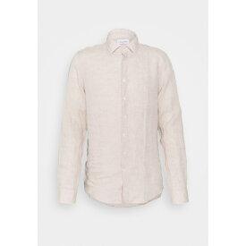 カルバン クライン テイラード メンズ シャツ トップス SOLID SLIM SHIRT - Formal shirt - bleached stone