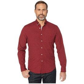 ジェイクルー メンズ シャツ トップス Slim Stretch Secret Wash Shirt in Small Dot Organic Cotton Burgundy/White Small Dot