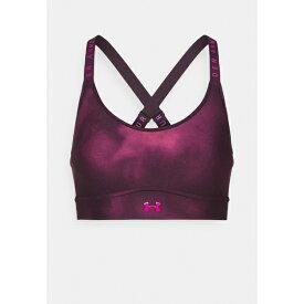 アンダーアーマー レディース カットソー トップス INFINITY PRINTED BRA - Medium support sports bra - polaris purple yiku0255