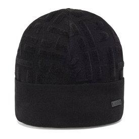 ヒューゴボス メンズ 帽子 アクセサリー BOSS Men's Disco Mixed-Yarn Hat and Scarf Set Black