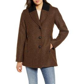 ペンドルトン レディース コート アウター Pendleton Hyde Park Wool Blend Riding Coat Mahogany