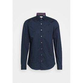 カルバン クライン テイラード メンズ シャツ トップス POPLIN CONTRAST SLIM - Formal shirt - navy