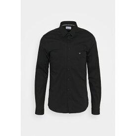 カルバン クライン テイラード メンズ シャツ トップス LOGO STRETCH EXTRA SLIM - Formal shirt - black