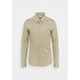 カルバン クライン テイラード メンズ シャツ トップス LOGO STRETCH EXTRA SLIM - Formal shirt - beige