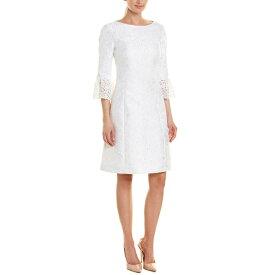 マイケル コース レディース ワンピース トップス Michael Kors Collection Silk-Blend Shift Dress optic white