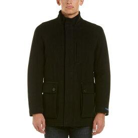 コールハーン メンズ ジャケット&ブルゾン アウター Cole Haan Wool & Cashmere-Blend Coat black