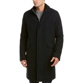 コールハーン メンズ ジャケット&ブルゾン アウター Cole Haan Signature Wool-Blend Coat navy